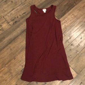 Mossimo maroon sleeveless dress